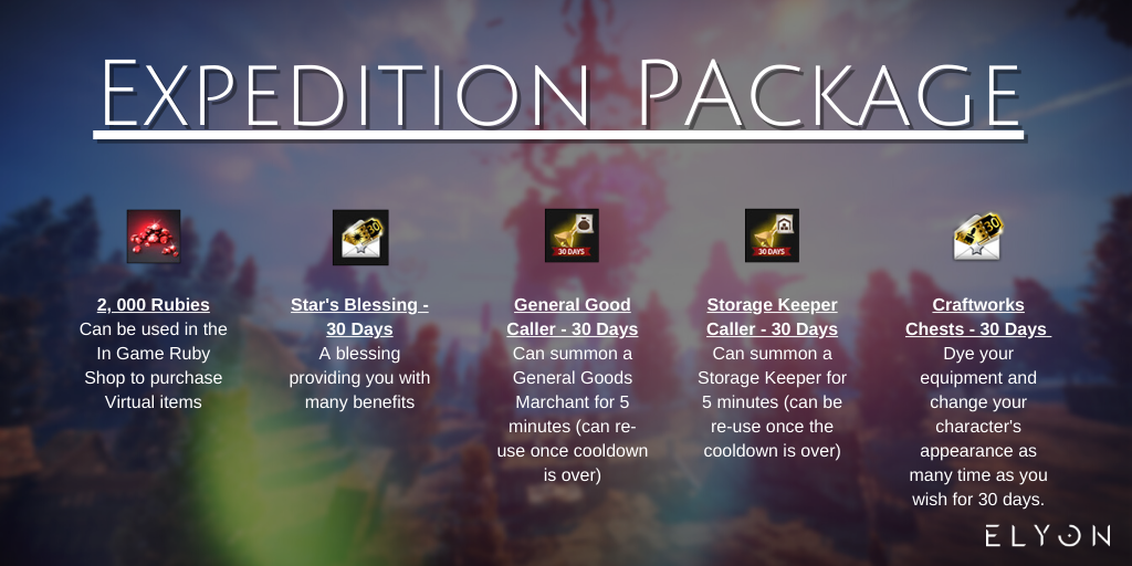 Expedition Package elyon
